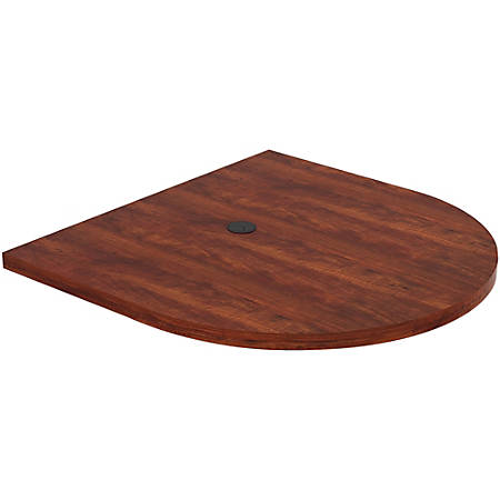 """Lorell® Prominence Conference Oval Table Top, 48""""W x 48""""L, Cherry"""