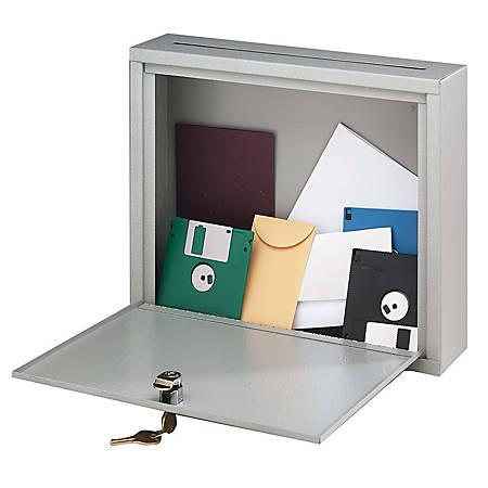 "Buddy Interoffice Mailbox, 18""H x 18""W x 7""D, Platinum"
