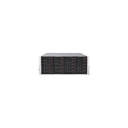 Supermicro SuperServer 6048R-E1CR24L Barebone System - 4U Rack-mountable - Intel C612 Chipset - Socket R3 LGA-2011 - 2 x Processor Support - Black