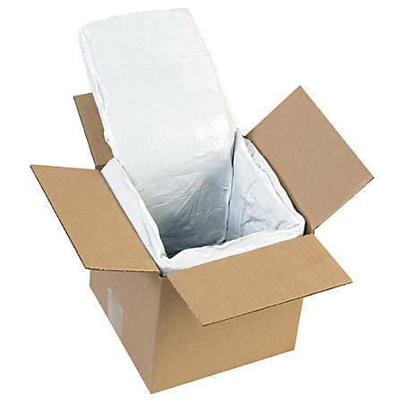 """Office Depot® Brand Deluxe Insulated Box Liners, 6""""H x 6""""W x 6""""D, White, Case Of 10"""