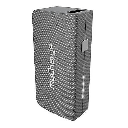 myCharge AmpPlus Portable Charger With USB Cable, Gray, AMU44GG