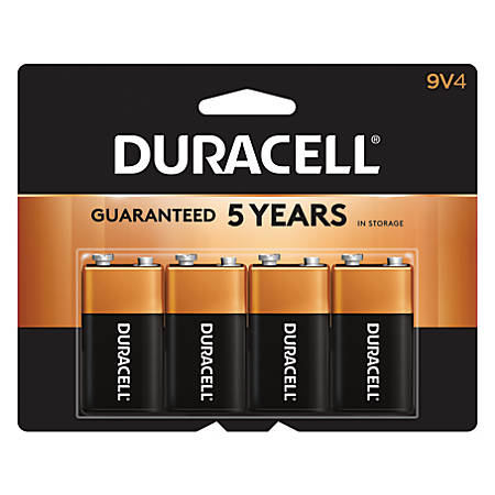 Duracell® Coppertop 9-Volt Alkaline Batteries, Pack Of 4