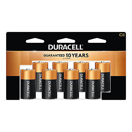 Duracell® Coppertop C Batteries, Pack Of 8