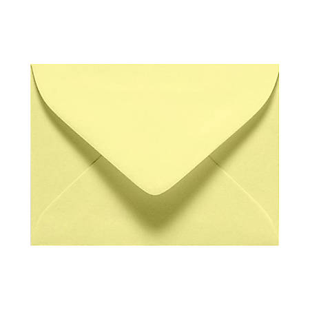 "LUX Mini Envelopes With Moisture Closure, #17, 2 11/16"" x 3 11/16"", Lemonade Yellow, Pack Of 250"