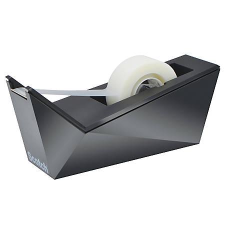 "Scotch® Desktop Tape Dispenser, Metallic Black, 1"" Core - Refillable - Metallic Black"