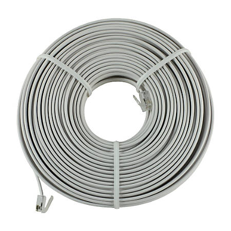 GE 100 ft. White Telephone Line Cord by Office Depot & OfficeMax
