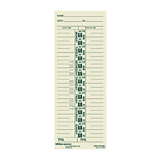 OfficeMax Single Name Weekly Time Cards