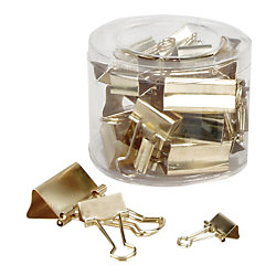OfficeMax Gold Binder Clips, 30 ct.