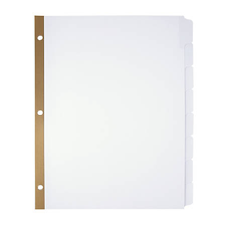 Office Depot® Brand Write-On Dividers, 8 Tab, 3 Sets, White