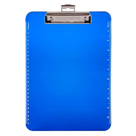 Office Depot® Brand Plastic Clipboard, Blue