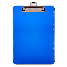 Office Depot Brand Plastic Clipboard Blue