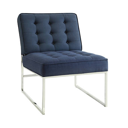 Ave Six Anthony Guest Chair, Klein Azure/Chrome