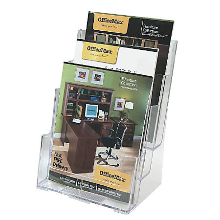 OfficeMax® Brand 3-Tier Magazine Holder