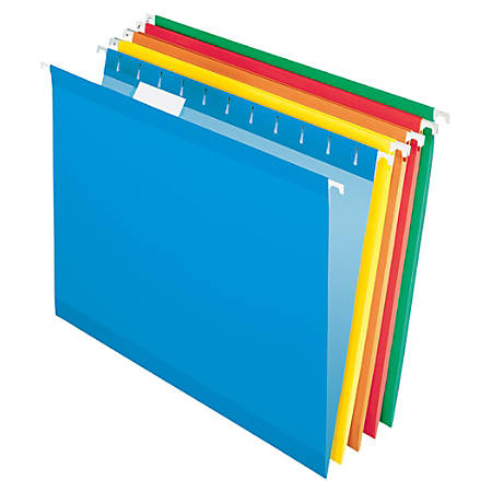 Office Depot® Brand Hanging Folders, Letter Size, Assorted, Box Of 25