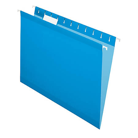 Office Depot® Brand Hanging Folders, Letter Size, Blue, Box Of 25