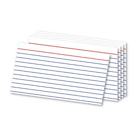 office depot brand ruled index cards 3 x 5 white pack of 500 office depot. Black Bedroom Furniture Sets. Home Design Ideas