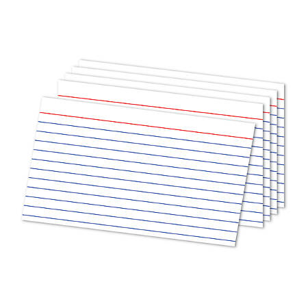 office depot brand ruled index cards 5 x 8 white pack of 100 by office depot officemax. Black Bedroom Furniture Sets. Home Design Ideas
