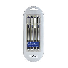 TUL Retractable Gel Pens Needle Point
