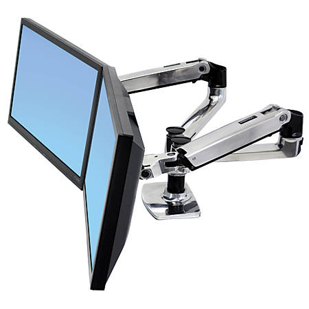 Ergotron LX Mounting Arm For Flat Panel Displays, Silver