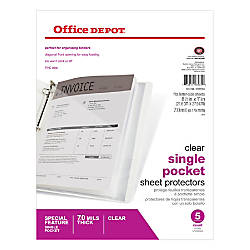 inplace binder pockets clear by office depot officemax