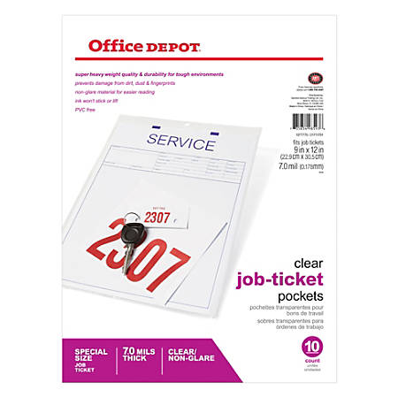 """Top-Load Heavyweight Job Ticket Holder By [IN]PLACE®, 9""""W x 12""""L"""