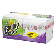 Bounty Quilted 1 Ply Napkins White