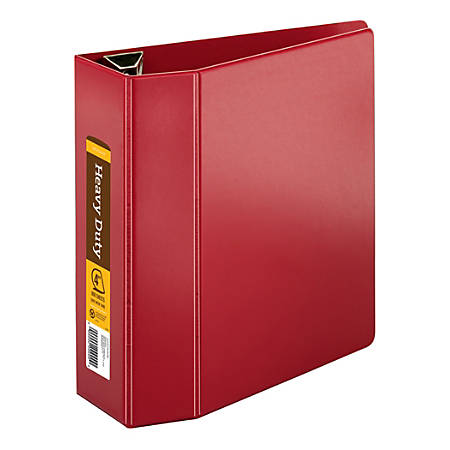 "[IN]PLACE™ Heavy-Duty Reference Binder, 4"" Rings, 100% Recycled, Dark Red"