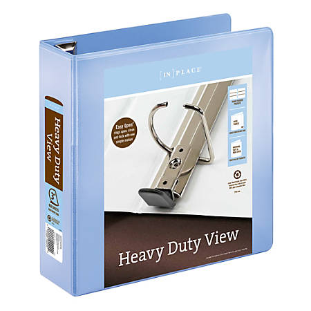 """Office Depot® Brand Heavy-Duty View Binder, 3"""" Rings, 54% Recycled, Periwinkle"""
