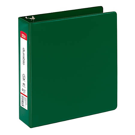 "Office Depot® Brand Round Ring Reference Binder, Letter Size, 2"" Rings, 100% Recycled, Dark Green"