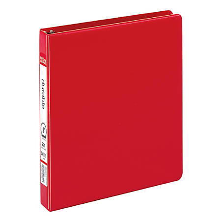 """Office Depot® Brand Durable Reference Binder, 1"""" Rings, 64% Recycled, Red"""