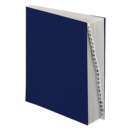 Office Depot® Brand Desk Sorter, Letter Size, A - Z, Navy, 20 Tabs