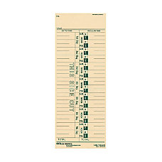 OfficeMax 1 Sided Weekly Time Cards