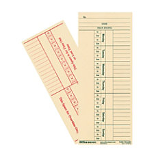 OfficeMax 2 Sided Weekly Time Cards
