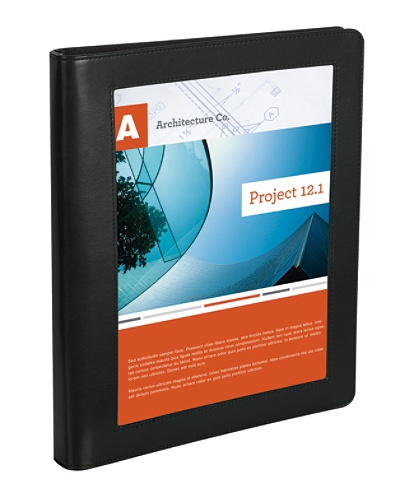 Office Depot Brand Premium Leatherette 1 Presentation View Binder Black By Officemax