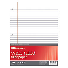 Office Depot Brand Filler Paper Wide