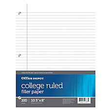 Office Depot Brand Filler Paper College