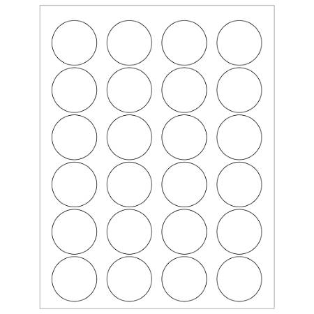 "Office Depot® Brand Glossy Circle Laser Labels, LL207, 1 5/8"", White, Case Of 3,000"