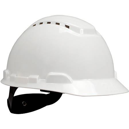 3M H700 Series Ratchet Suspension Hard Hat - Lightweight, Adjustable Height - Head Protection - High-density Polyethylene (HDPE) - White - 1 Each