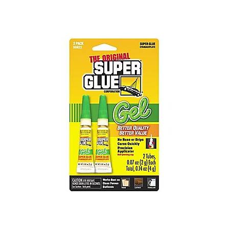Super Glue Gel Double Pack - 2 / Pack - Clear