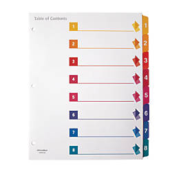 Office Depot Brand Preprinted Index Dividers
