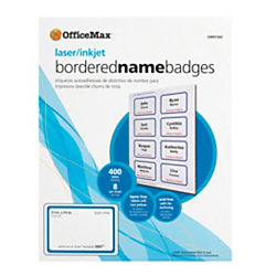 OfficeMax Self Adhesive Name Badges For Laser Printers W X - Officemax name badge template