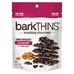 barkTHINS Dark Chocolate Almonds With Sea