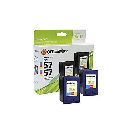 OfficeMax® Brand OM98933 Remanufactured Ink Cartridge Replacement For HP 57 Tricolor, Pack Of 2