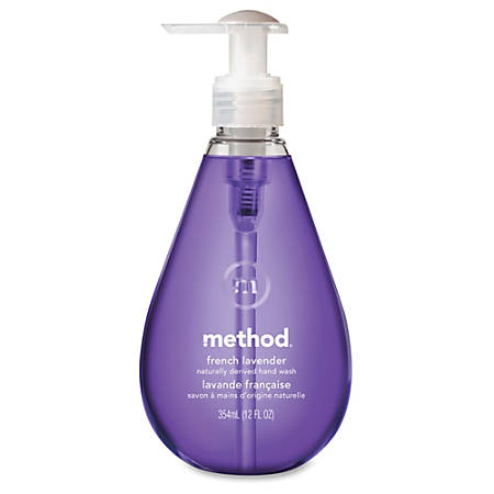 Method French Lavender Gel Hand Wash - French Lavender Scent - 12 oz - Pump Bottle Dispenser - Bacteria Remover - Hand - Lavender - Triclosan-free, Non-toxic, Moisturizing, pH Balanced, Anti-bacterial, Anti-irritant - 1 Each