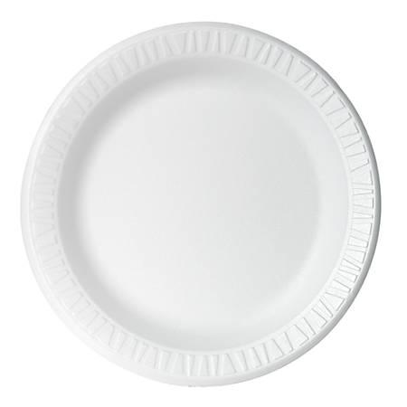 """Dart Concorde Foam Plates, 9"""", White, Carton Of 500"""