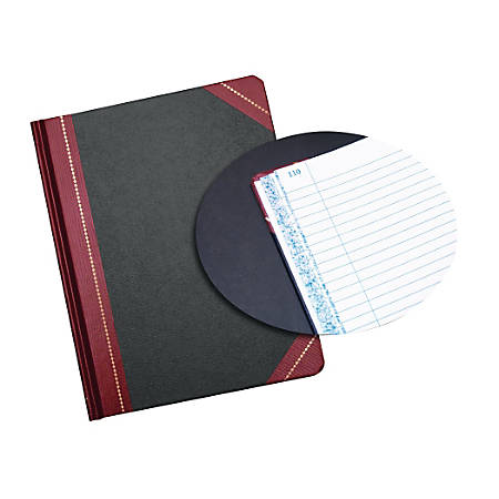 "Adams® Record Book, Record Ruled, 9 5/8"" x 7 5/8"", 150 Pages, Black"