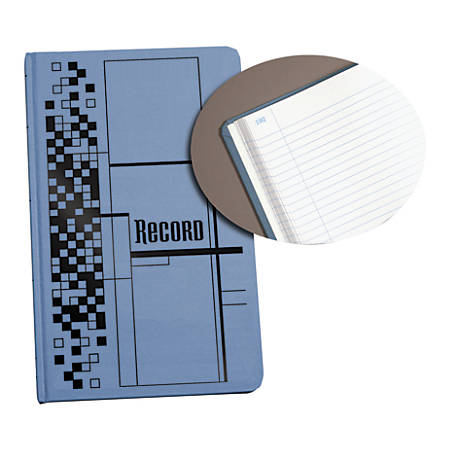 """Adams® Record Ledger, 7 5/8"""" x 12 1/8"""", 300 Pages, Blue"""
