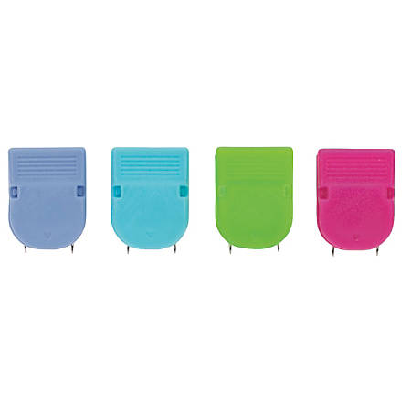 OfficeMax® Brand Fabric Panel Wall Clips, Assorted Solid Colors, Pack Of 20