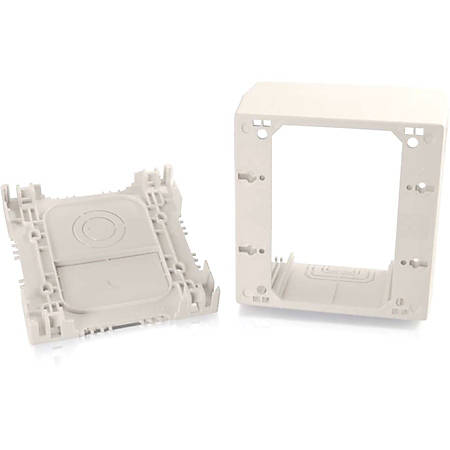C2G Wiremold Uniduct Double Gang Extra Deep Junction Box - Fog White