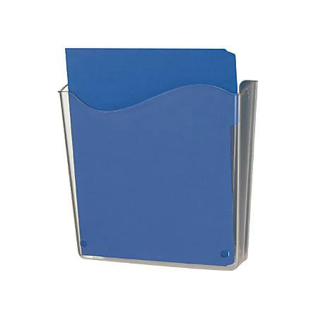 """Officemate® OIC® Unbreakable Vertical Wall File, 10""""H x 10""""W x 3""""D, Clear"""